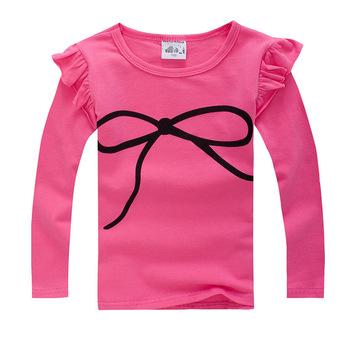 2015 весна осень детские с длинным рукавом футболка elasticcandy цвета девушки футболки топы тис детская одежда бесплатная доставка