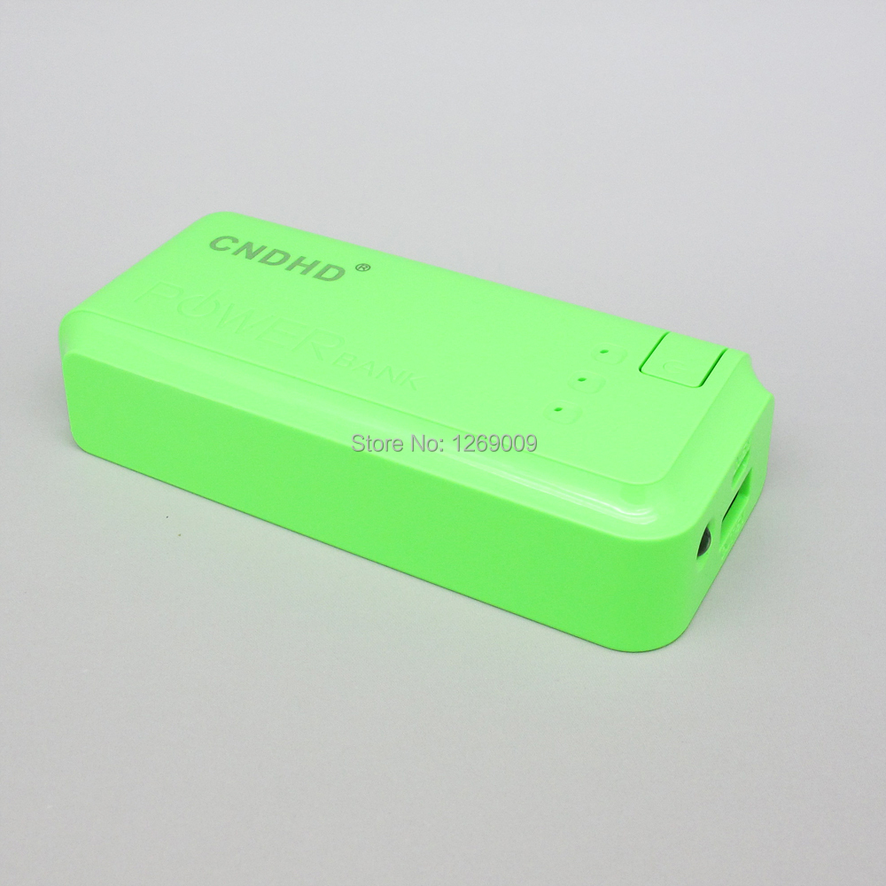 NEW Mobile Power Supply lights 5000MAH Enough green plastic Portable Power Source for Tablet PC and Smart Phone Free shipping(China (Mainland))