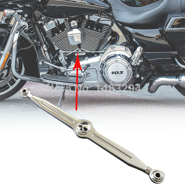 Chrome Skull Craneo Shift Linkage Clutch Parts Fits For Harley Ultra Classic Tour Electra Tri Glide CVO Softail Custom Cranio
