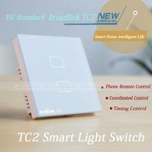 New Arrival EU Standard Broadlink TC2 Wireless 2 Gang Remote Control Wifi Wall Light Touch Screen Switch 110V-240V Smart Home