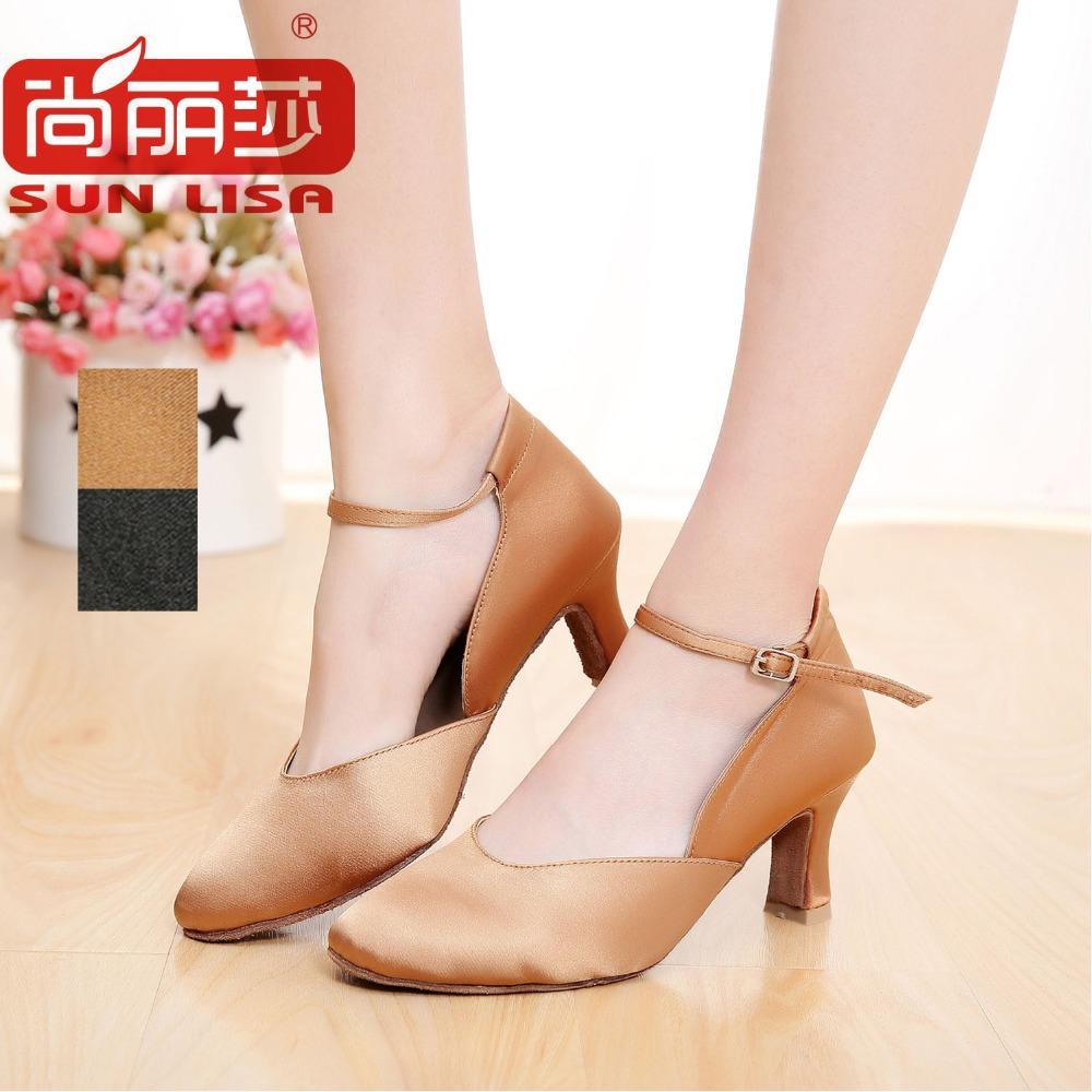SUN LISA Gorgeous Women's Lady's High Heeled Latin Ballroom Modern Dance Shoes STYC15(China (Mainland))
