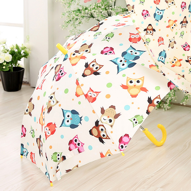 High Quality New Children's Umbrella Automatic Umbrellas Cute Carton Pattern Umbrella Long-handle Rainproof Umbrellas For Kids(China (Mainland))