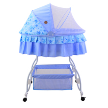 Metal Baby Crib Rocking Bed Baby Cradle Cot & Baby Stroller With With Fabric Mosquito Net Infant Crib Baby Bed(China (Mainland))