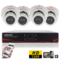 SUNCHAN CCTV Security 720P 1Megapixel 4CH AHD DVR Day Night IR Camera System High Definition Video