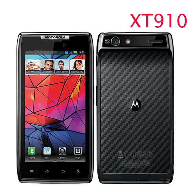 "Original Motorola RAZR XT910 / XT910 MAXX Phone 4.3"" 1GB RAM16GB ROM Camera 8MP Unlocked XT910 Mobile Phone(China (Mainland))"