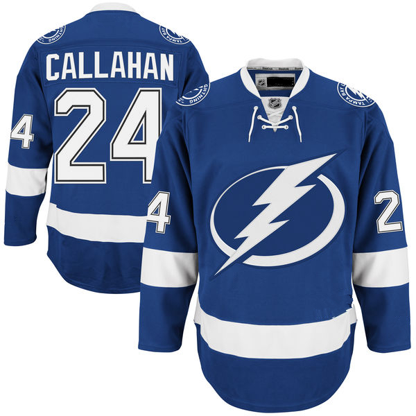 Ryan Callahan Jersey Men's Lightning #24 Ryan Callahan Home Blue White Stitched Embroidery Logo Ice Hockey Jerseys(China (Mainland))