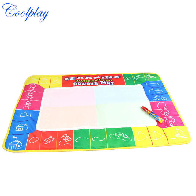 Coolplay CP1325NC 72X49cm 4 colors  Magic Water Doodle Mat with 1 Magic Pen/Water Drawing Board/Water Mat/aquadoodle mat