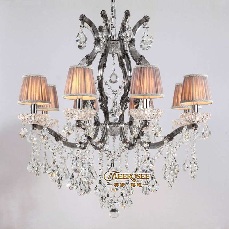 Smoky Gray color cristal chandelir Light Fixture Crystal Lustre Pendelleuchte 8 Glass Arms for Hotel, Restaurant, Foyer MD8475<br><br>Aliexpress