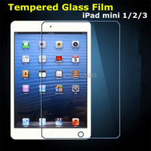 DropShipping 9H For iPad Mini 3 Screen Protector Glass Sticker Accessories Clear Protective Glass Guard Film For iPad Mini 1 2 3(China (Mainland))