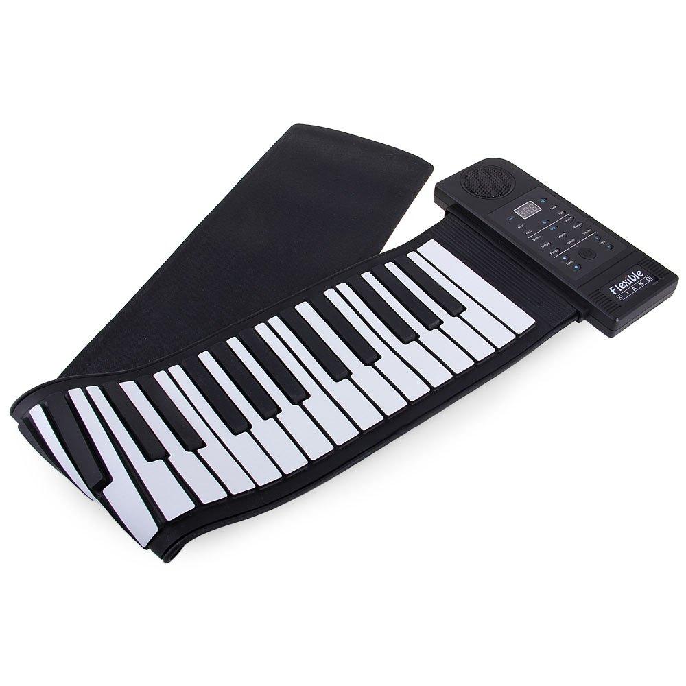 New Creative Portable Wireless Keyboard PU61S USB MIDI Roll Up Electronic Piano Keyboard Kit 66 Keys 100 - 240V For Music Lovers(China (Mainland))