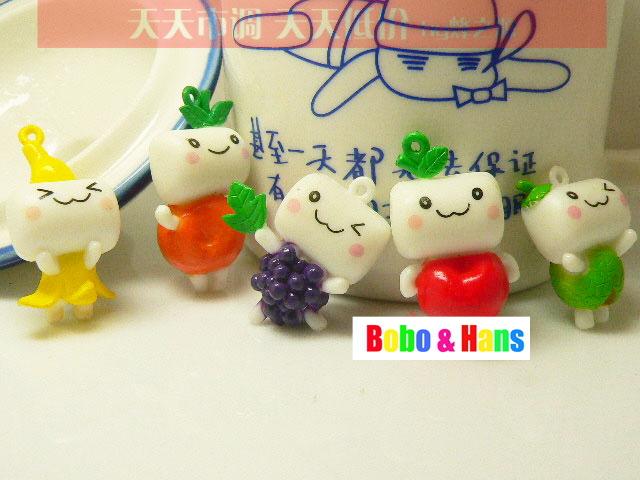 New Cute cartoon fruit baby charm / mobile phone strap / Wholesale(China (Mainland))