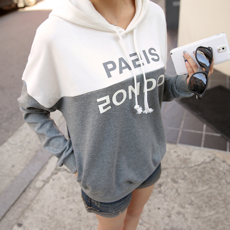Womens Tops Fashion 2015 Korean Fashion Two- Color Women T Shirt Cotton Leisure Cashmere Long Sleeve TopsОдежда и ак�е��уары<br><br><br>Aliexpress