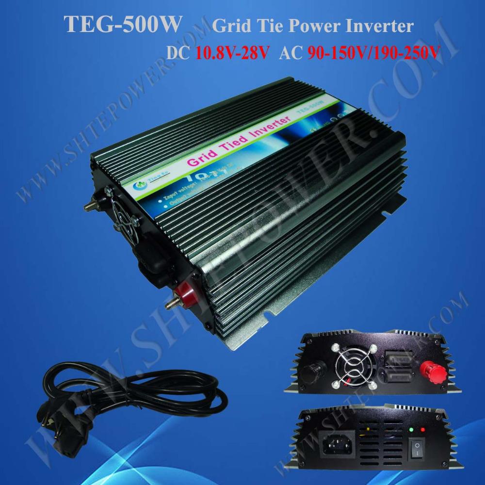 Grid Tie Inverter 500W DC 10.8-28V to AC 220V/230V/240V Inverter For Home Use(China (Mainland))