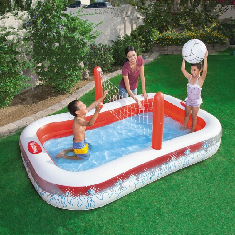 Large Inflatable Swimming Pool Kids Pools Family Play Pool Round Piscina large Plastic Swimming Pools Volleyball(China (Mainland))