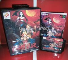 Sega MD game – Vampire Killer Box and Manual for 16 bit Sega MD game Cartridge Megadrive Genesis  system