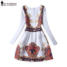 Vintage 2016 women dresses vestidos de fiesta cortos long sleeve maxi dress cotton mini cotton soft tight size S-XL D512314(China (Mainland))