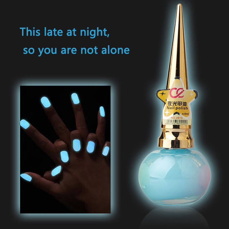 10 Candy Colors Noctilucent Fluorescent Nail Polish Lacquer Neon Glow In Dark Nail Varnish Luminous Nail Oil ZJY28(China (Mainland))