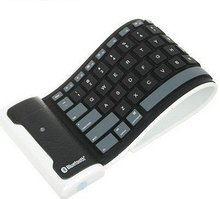 New Bluetooth Wireless Washable Flexible Silicone Roll up Keyboard for iphone ipad