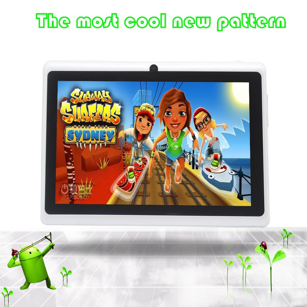 1G 16G Be good for promotion and gift given Color mapping 7 Quad Core Tablet PC