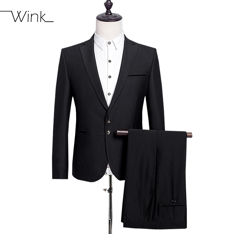 Jacket Pant Two Buttons Wool Suits Men 39 S Formal Suits With Pants Coats Costume Homme Slim