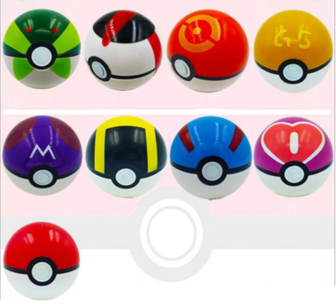 Pokemon Ball Figures ABS Anime Action Figures Pokemon PokeBall Toys Super Master Pokemon Ball Toys Pokeball Juguetes 9pcs/set(China (Mainland))