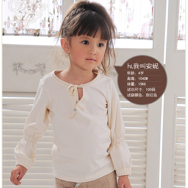 Retail 1piece Children 2016 Autumn New Clothing Girls Princess Fashion T shirts Kids Knitted Brand Quality Clothes - Hangzhou Taijia Co.,Ltd store
