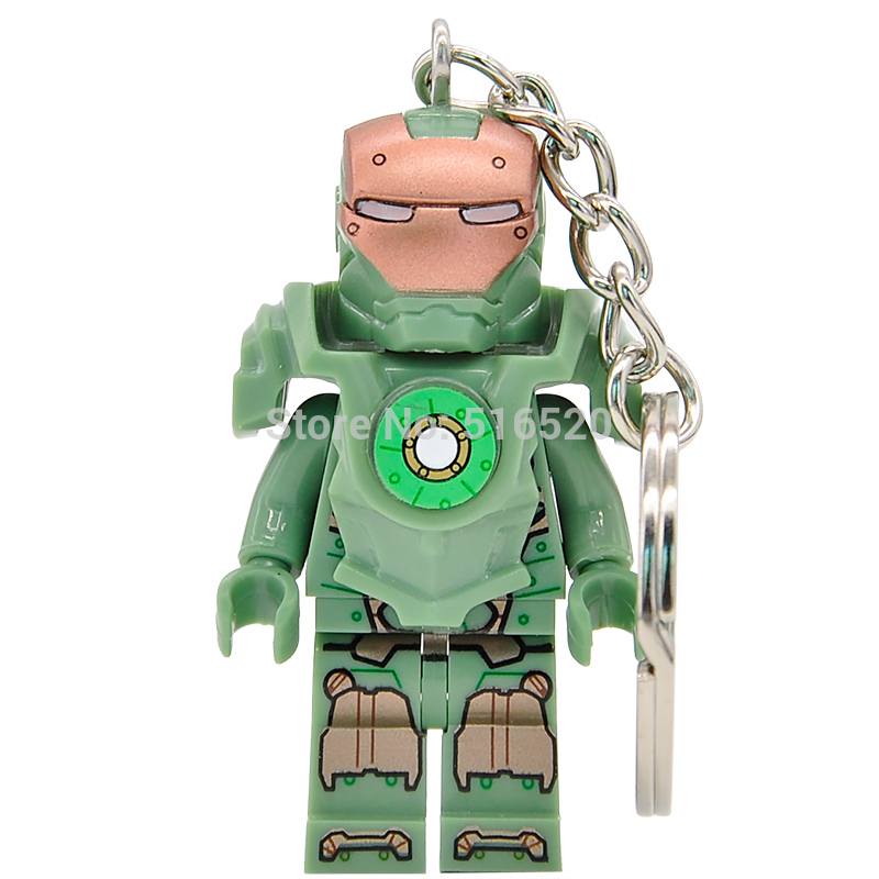 Marvel Super Heroes Captain America 3 Minifigures Iron Man MK37 Keychain For Custom Ring Key Chain