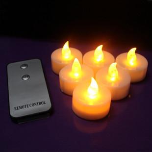 Free Shiping Wireless Remote Control Small Candle LED Light Smokeless Flameless Electronic Flash Light Candle Lamp 12Pcs/Lot(China (Mainland))