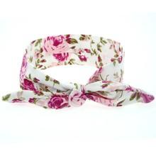 1 pieces New Cute Newborn Baby Cool Printing Knot Elasticity Headband Cotton Children Girls Baby Hair