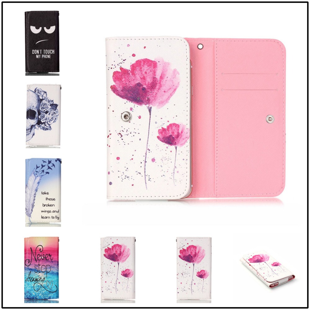 For BLUBOO Picasso Case 2016 Hot Sale Free Shipping PU Protect Phone Cases With 12 Painting And Card Wallet(China (Mainland))