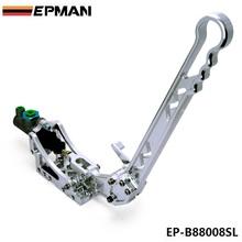 EPMAN Universal Jdm Hydraulic Horizontal Rally Drifting E-brake Lever HandBrake Silver EP-B88008SL(China (Mainland))