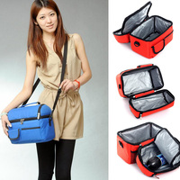 1pc Men Women Lunch Bag Portable Insulated Thermal Cooler Lunch Box Carry Tote Bag Travel Picnic New 2015 -- BIB63 PA15