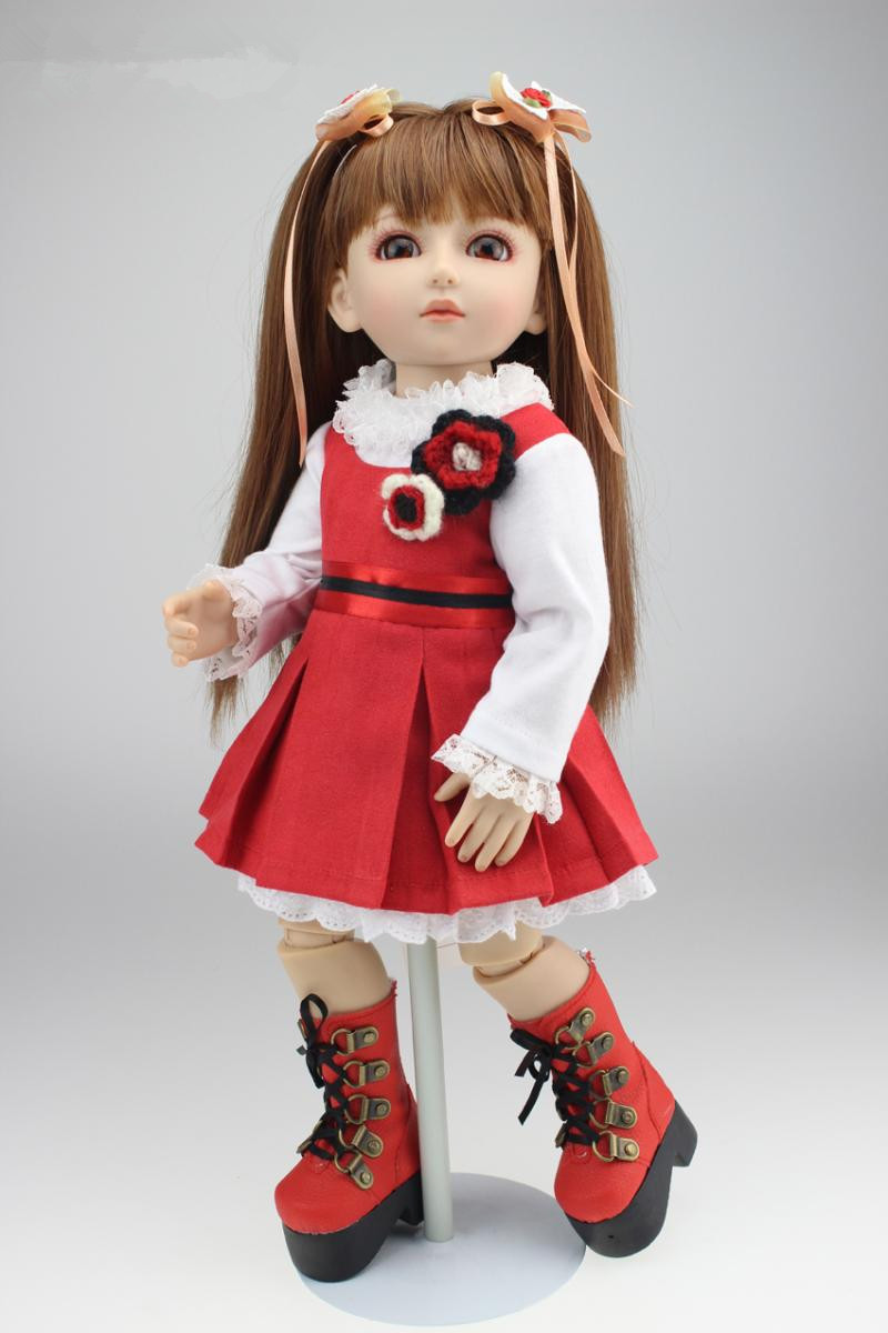Фотография Hot Sell ! Free Gift 45 cm 18inch Reborn Dolls With Red Baby Doll Clothes Newest Bonecas Reborn De Silicone Hot Toys For Girls
