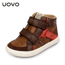 UOVO 2016 boys high quality mid-cut flat shoes kids fashion sport shoes autumn winter sneaker shoes for boys size 27-35