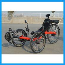 Tadpole 21 Speed Three Wheel Electric Recumbent Trike(China (Mainland))