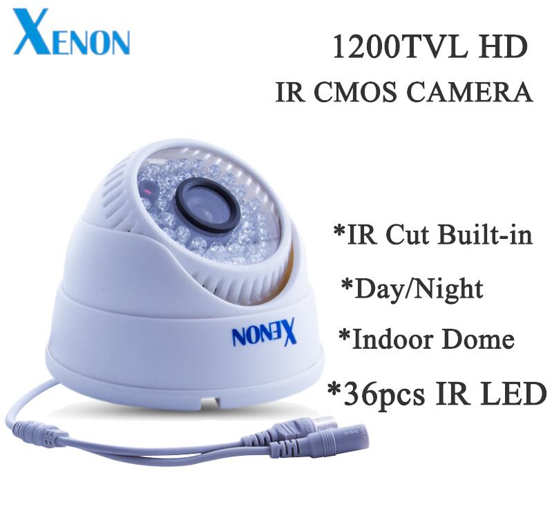 Promotion Free shipping indoor 1200TVL 36pcs IR LEDs Surveillance Camera CMOS CCTV color Camera(China (Mainland))