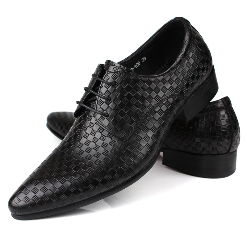 genuine leather pointed toe breathable comfortable mens