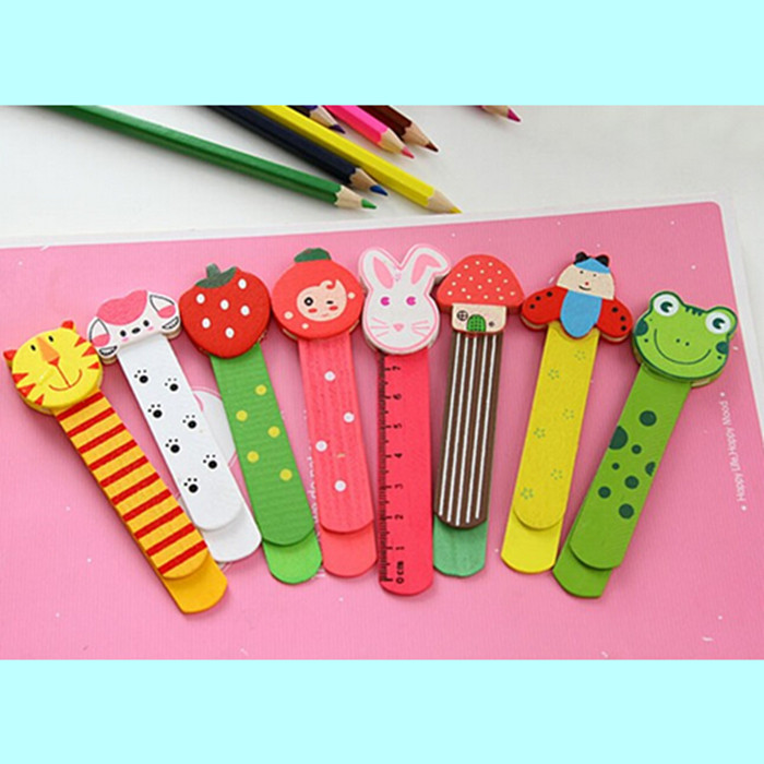 10pcs wood bookmark clamps,book marker rulers,home office decorations,Creative wooden crafts education early learning kids gifts(China (Mainland))