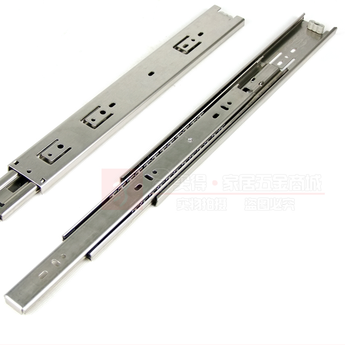 Thick stainless steel kitchen cabinets quiet ball bearing