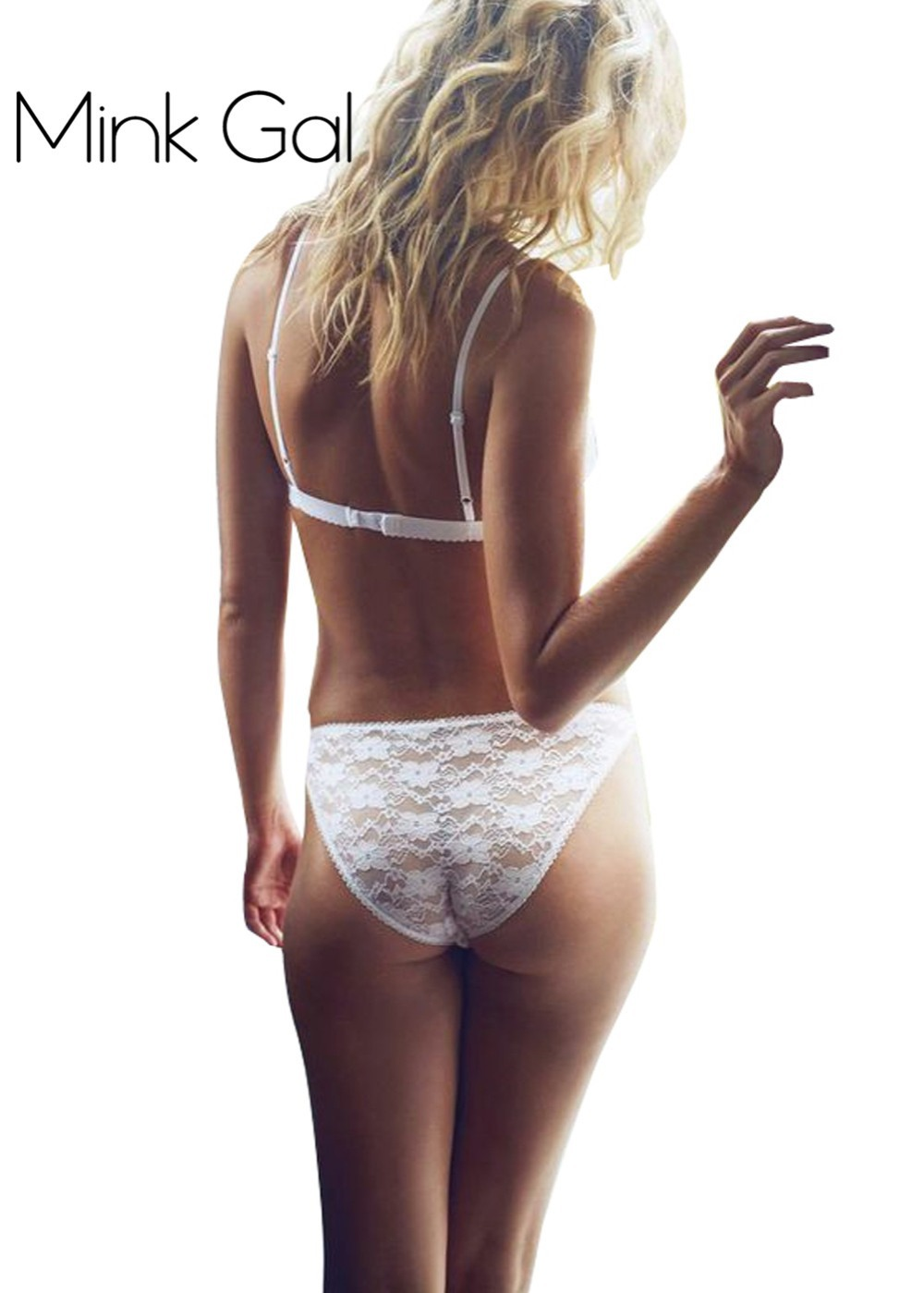 Girls white lace panties