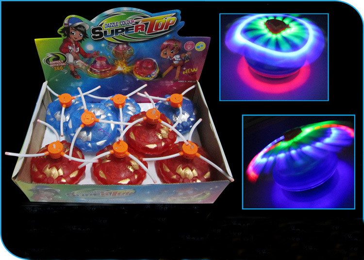 2015 New Flash Light Music Spinning Top Flashing Toys Classic Toy Party Kids Child Boy Girls Light Up Plastic Toy 1piece(China (Mainland))