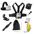 For Gopro hero 4 5 Accessories set Floating Chest Head Hand Helmet Mount strap for Go
