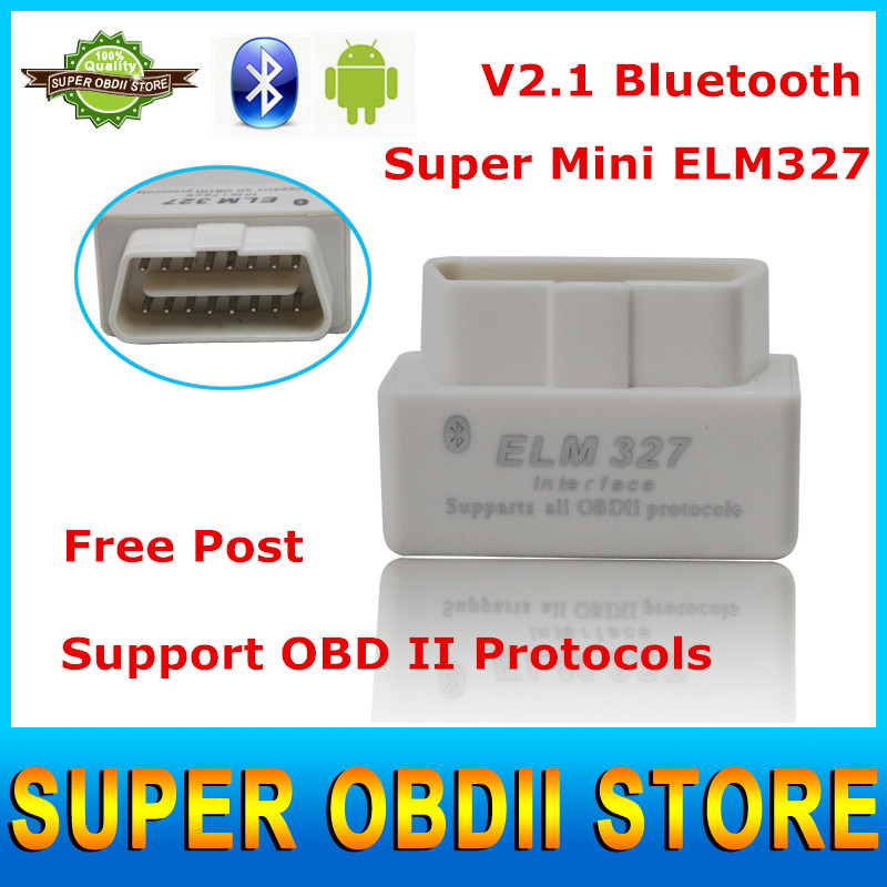 High Quality Mini Elm 327 Bluetooth V2.1 OBD/OBD2 Car Scanner Interface Elm327 OBDII Diagnostic Scanner Tool for Android/ PC(China (Mainland))