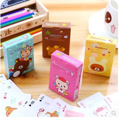 Korea Creative Home Cute Fashion Easy Bear Poker B366 Entertainment Card Game Card Cartoon Card(China (Mainland))