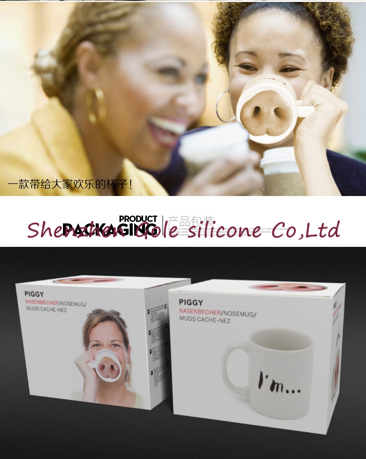 2016 new 1pcs/lot creative personalized mug Funny cartoon pig nose shape coffee cup lens best gift(China (Mainland))