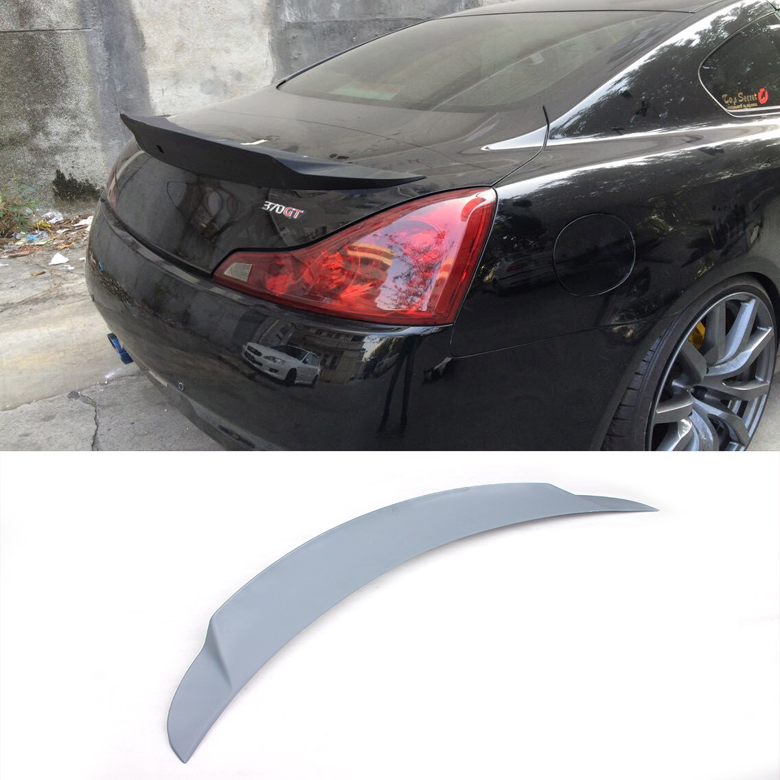 Frp g37 jc styling auto rear trunk wing for infiniti car for Wing motors automobiles miami fl