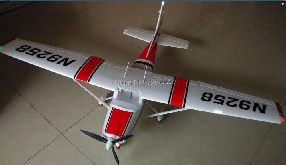RC plane toy Cessna 182 1410mm wingspan 6ch with flaps, led light epo PNP(China (Mainland))
