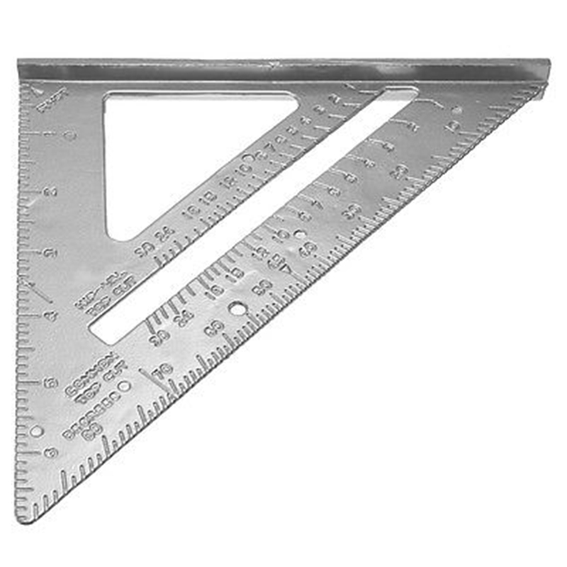 7 inch High Quality Aluminum Alloy Speed Square Protractor Miter Framing Measurement Measuring Tool