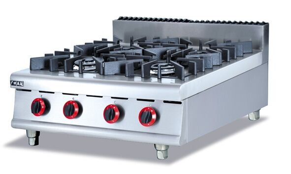 Gas stove Stainless steel gas range (4-Burners) Counter Top commericial Gas Stove multi-cooker gas cooktop,factory sale(China (Mainland))