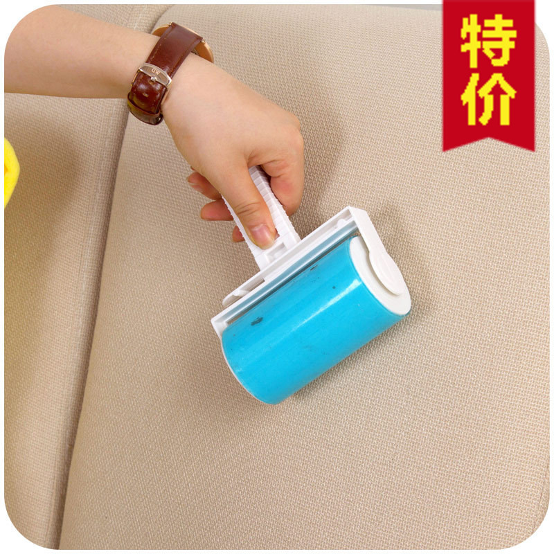 Medium Washable Sticky Hair Roller Sticky Clothes Dedusting Roller Dust Collector Carpet Sticky Roller Free Shipping(China (Mainland))